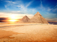Egyptian pyramids in the Giza
