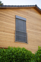 Window with closed blind
