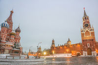 Moscow, Russia, Red square, view of St. Basil's Cathedral