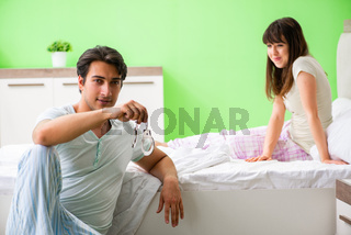 Man suggesting wife to play sexual games with cuffs