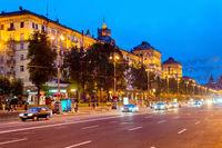 Traffic  central Khreshchatyk street, Kiev