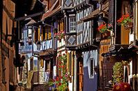 Alley, Eguisheim, Alsace, France