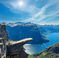 Trolltunga summer view, Norway