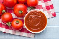 Tomatoes and ketchup.