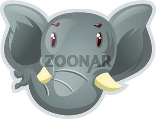 Big elephant, illustration, vector on white background.