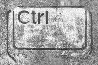 Grunge graffiti depicting the Ctrl key