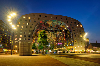 Markthal  Market Hall  building with a market hall underneath in Rotterdam, Netherlands