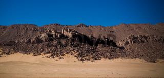 desert landscape El Berdj canyon in Tassili NAjjer National Park, Algeria