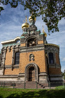 Russian churches with onion domes in Darmstadt