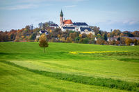view of Andechs monastery at Bavaria, Germany