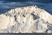 hill of salt at sea salt production