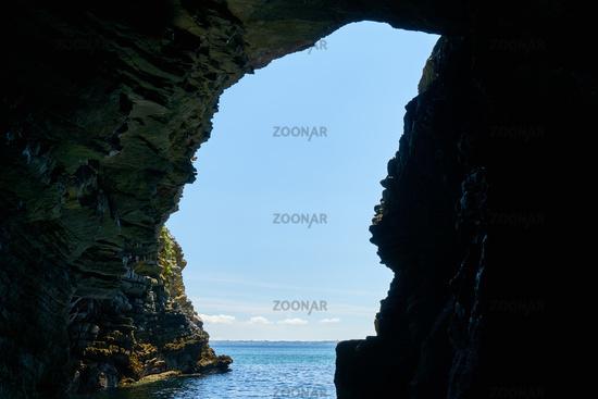 Grotte von Morgat im Atlantik der Bretagne