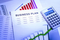 Business plan with tables and charts