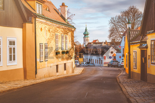 Cityscape of Grinzing - Wine producing village in Vienna