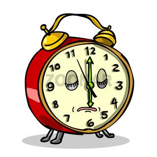 Vintage Alarm Clock Sleeping Cartoon