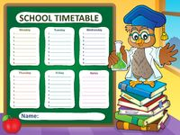Weekly school timetable template 7