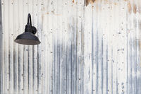 Old Rusty Sheet Metal and Lamp Abstract Background Texture