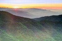 Sunset Views from Mt Umunhum Summit.
