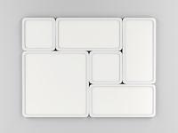 Led panels on gray wall