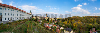 Panoramic view of the historical part of the town from the terrace (Barborska)