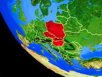 Visegrad Group on Earth from space