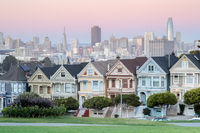Twilight over the Painted Ladies of San Francisco.
