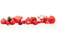 Rotes Weihnachten Header Hintergrund Banner