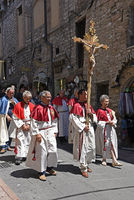 christian procession, old city, Assisi, Italy, Europe