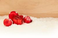 Grußkarte zu Weihnachten mit Geschenk