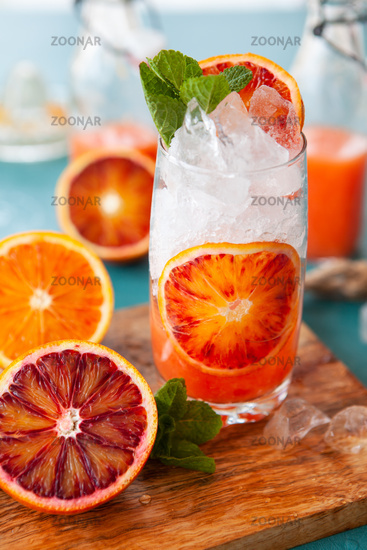 Fresh blood orange juice