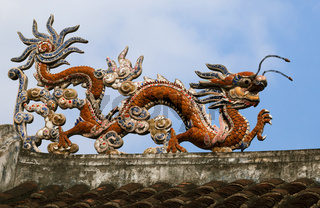 Dragon on a temple roof