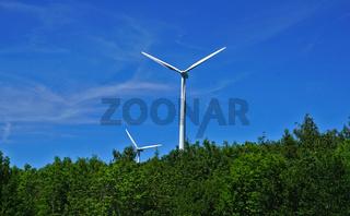 Windräder auf dem Himmelberg bei Melchingen, Schwäbische Alb