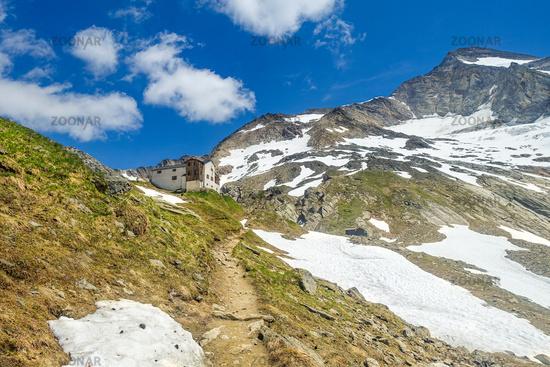 Huge rocks in the landslide area near Wiklen Ötztaler Alps, Austria