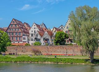 Blick über die Donau nach Ulm
