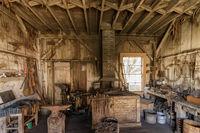 Santa Cruz, California - October 28, 2018: Old Carpenter Workshop at Wilder Ranch State Park