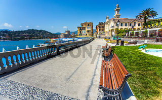 Waterfront in Portofino Liguria Italy