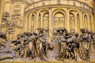 Florenz, Baptisterium Paradiespforte Detail