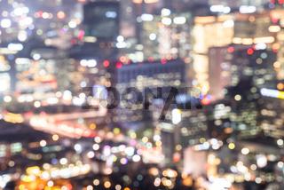 blurrred background of Seoul Downtown