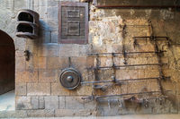 Old copper scale located at the courtyard of Gayer Anderson house, adjacent to Mosque of Ahmad ibn Tulun, Cairo, Egypt