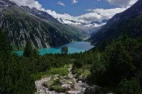 Zillertaler alps, schlegeis reservoir