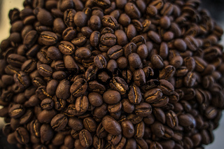 Roasted Coffee Beans Texture Closeup Macro Ingredient Cooking Background