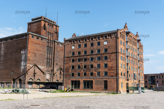 historic store house, old harbour, Wismar, Mecklenburg-Western Pomerania, Germany, Europe
