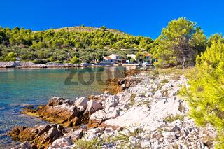 Katina island narrow sea passage in Kornati islands national park