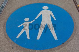 Pedestrians Sign