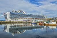 The Crown Princess Docked At Trondheim Norway
