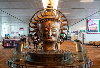 Surya statue at Delhi International airport Terminal 3