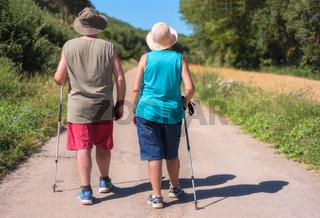 Senior couple on hike