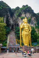 Murugan statue in Batu caves temple, Kuala Lumpur, Malaysia