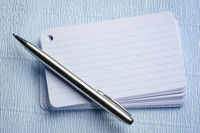 stack of blank index card