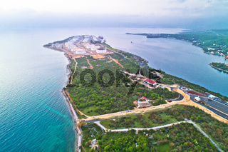 LNG terminal on Krk island aerial view